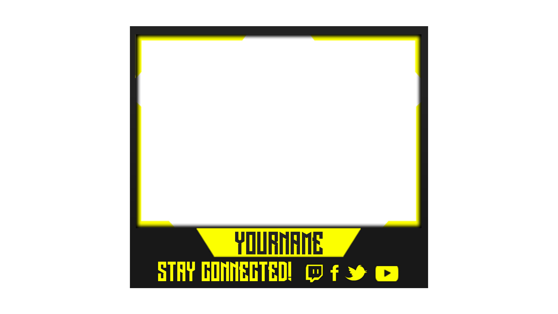Facecam Overlay Template 24 Of Gaming Facecam Border Template