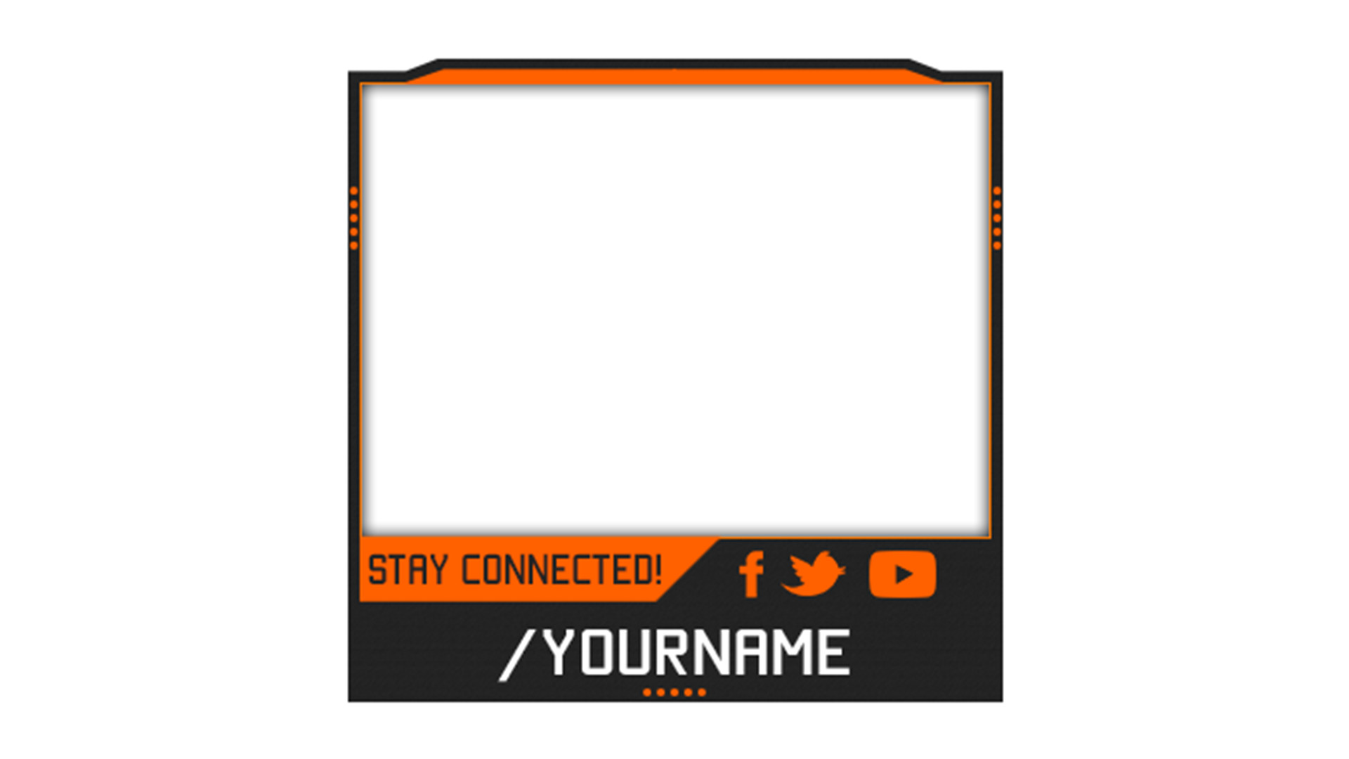 Facecam Overlay Template 25 Of Facecam Template No Text Clip Art