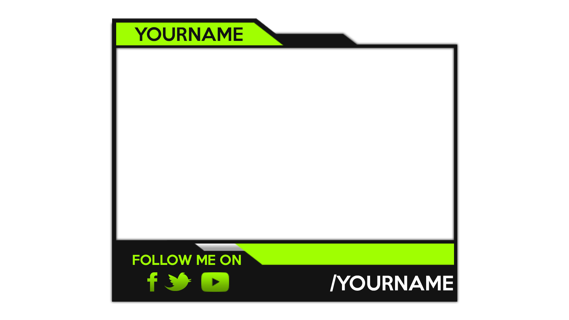 Facecam Overlay Template 28 Of Facecam Border Template Maker