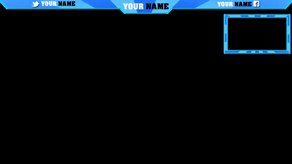 Facecam Overlay Template Facecam and Overlay Blue Sunburst