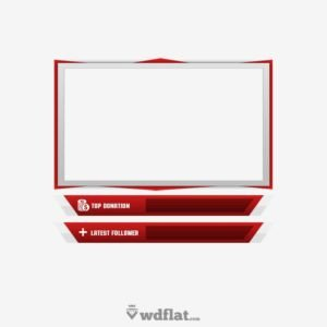Facecam Overlay Template Free Animated Facecam