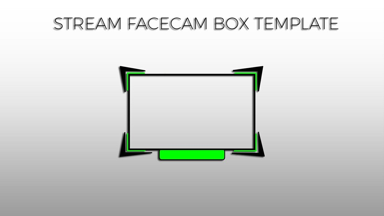 Facecam Overlay Template Green Facecam Box Overlay