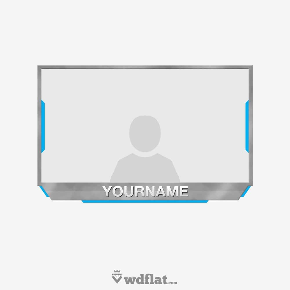 Facecam Overlay Template Greyblue Facecam Template