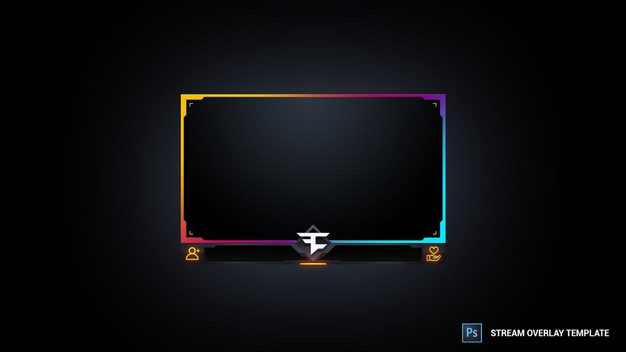 Facecam Overlay Template Multi Colour Facecam Stream Overlay Template – Mixofx