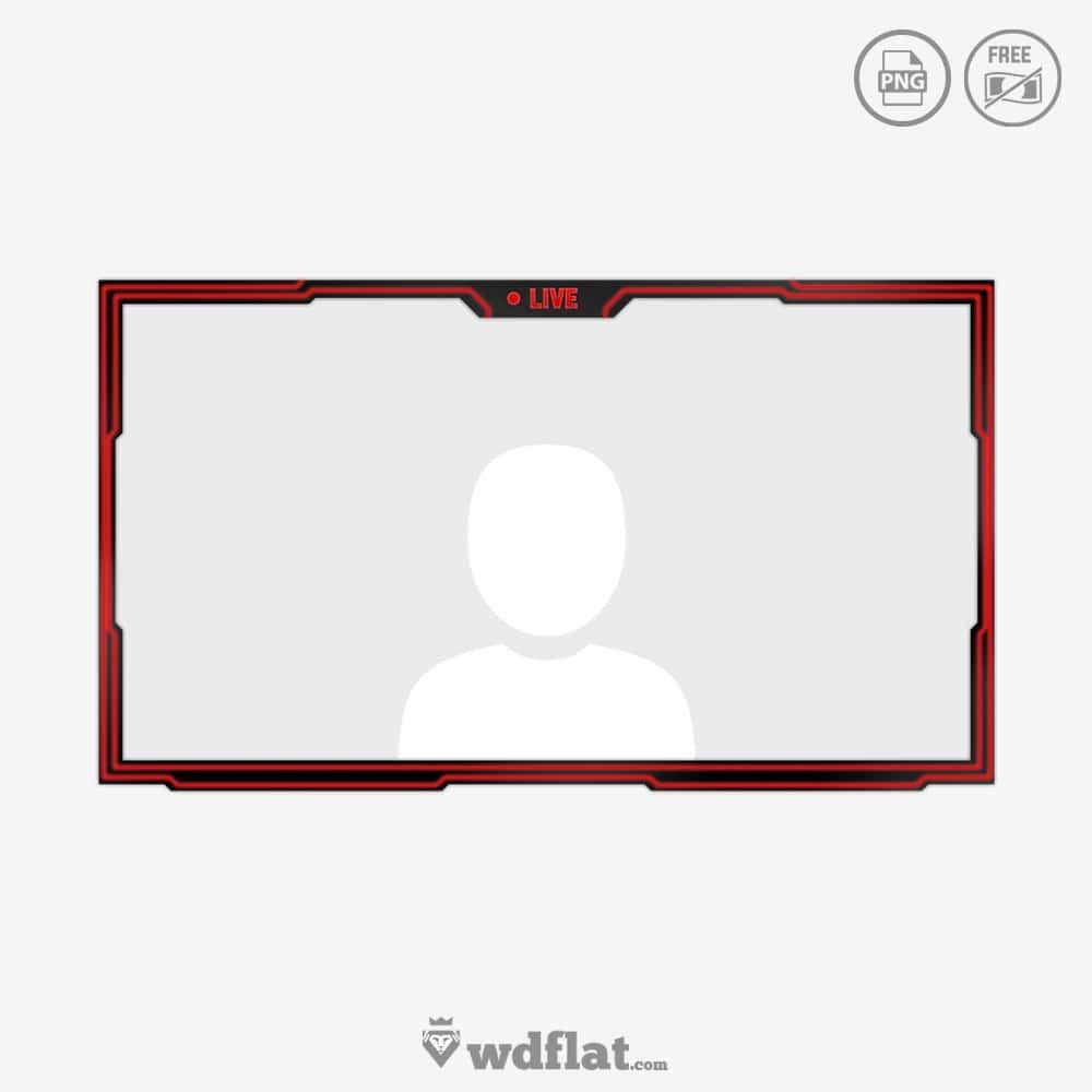 Facecam Overlay Template Redlines Glow