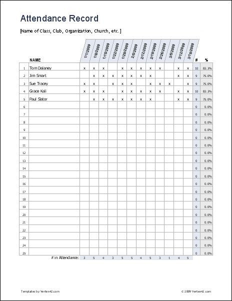 Fake Aa Signature Sheet Free Excel attendance Record attendance Sheet It is Easy