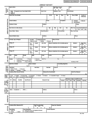 Fake Arrest Warrant Template form Arrest Fill Line Printable Fillable Blank