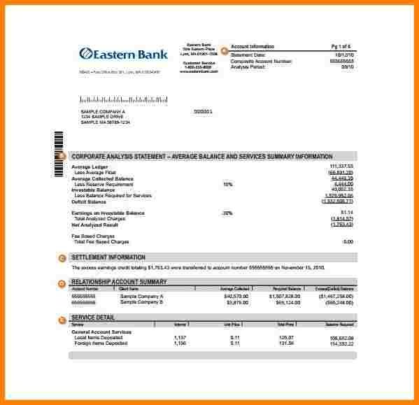 Fake Bank Statement Template 9 Bank Statement Example Pdf