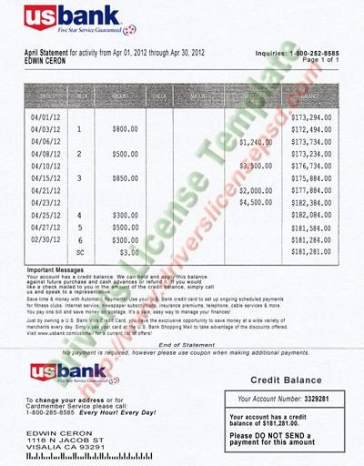 Fake Bank Statement Template Best 25 Bank Statement Ideas On Pinterest