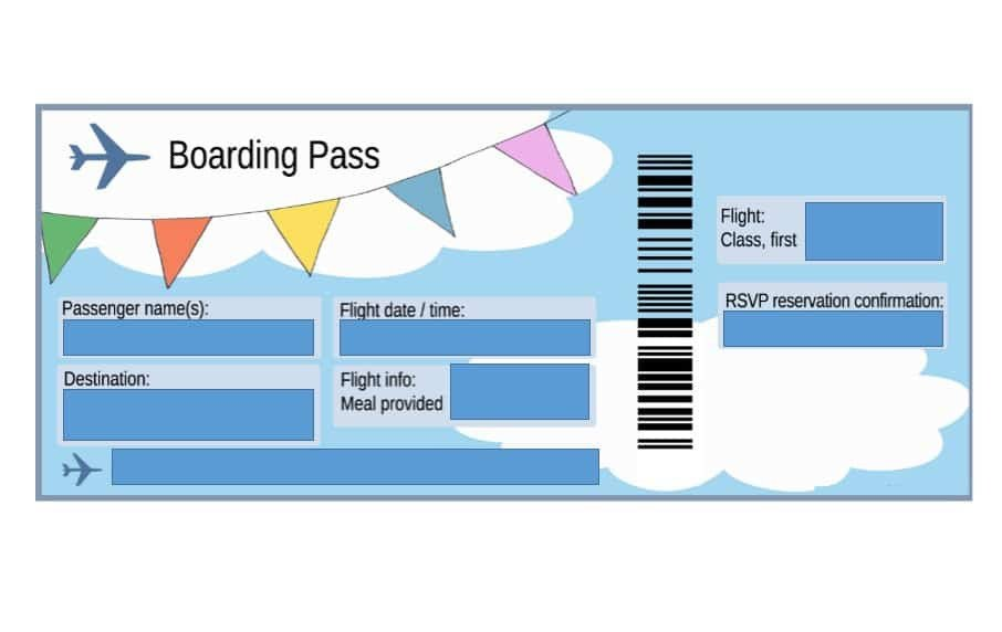 Fake Boarding Pass Template 16 Real & Fake Boarding Pass Templates Free