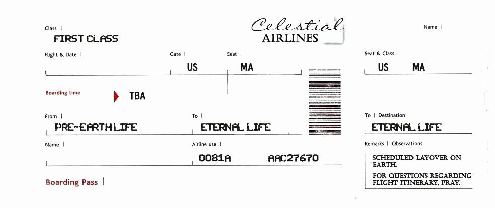 Fake Boarding Pass Template Blank Airline Ticket Template Fake Boarding