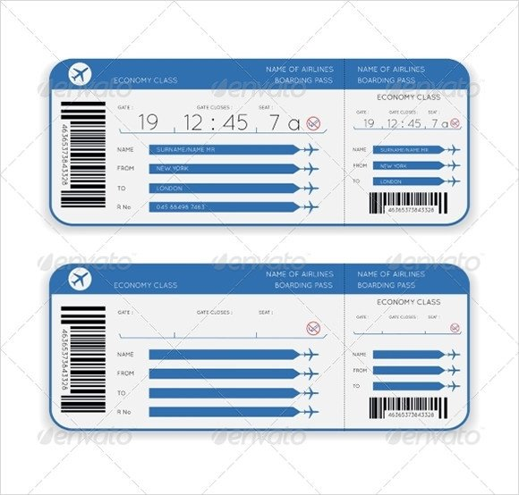 Fake Boarding Pass Template Boarding Pass Template 9 Download Documents In Pdf