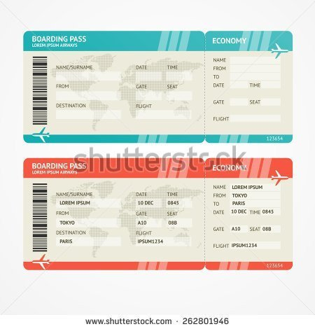 Fake Boarding Pass Template Boarding Pass Templates for Invitations & Gifts