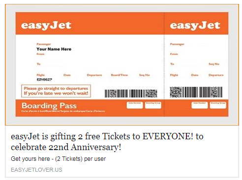 Fake Boarding Pass Template Easyjet Free Ticket Giveaway Scam is Duping Customers with