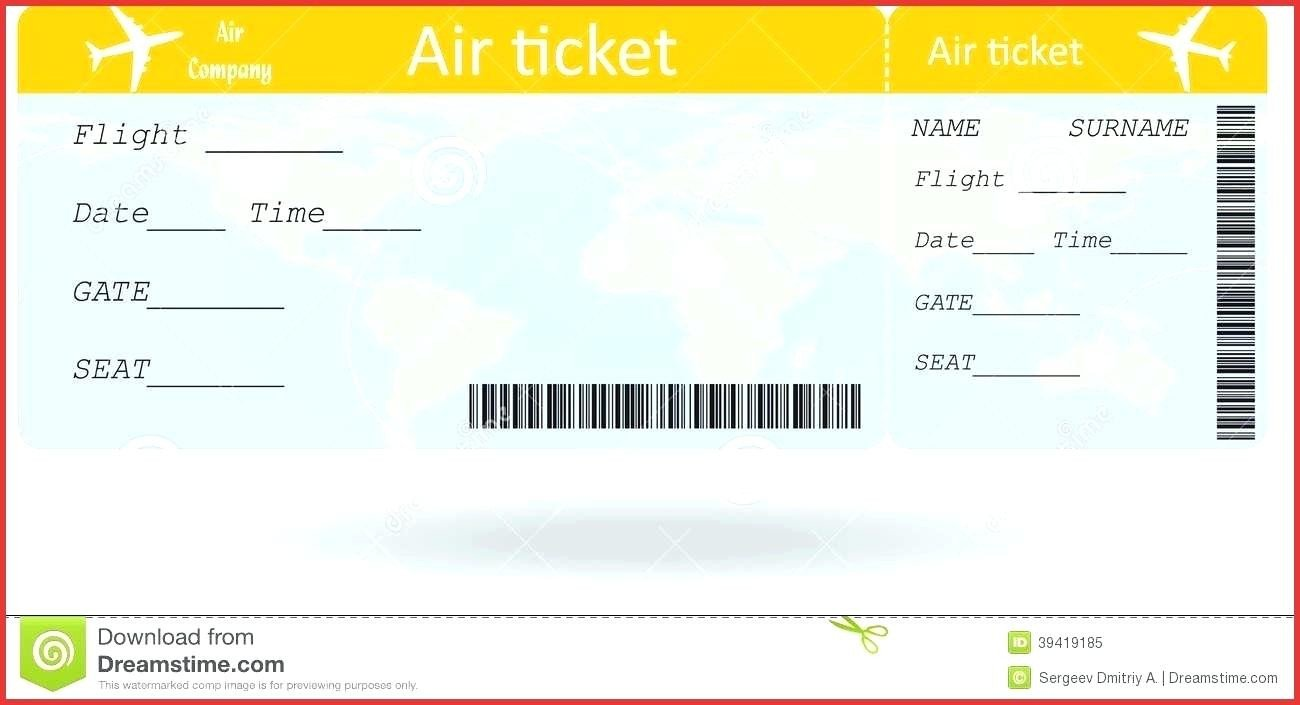 Fake Boarding Pass Template Fake Boarding Pass