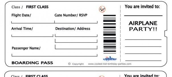Fake Boarding Pass Template Free Printable Airline Ticket