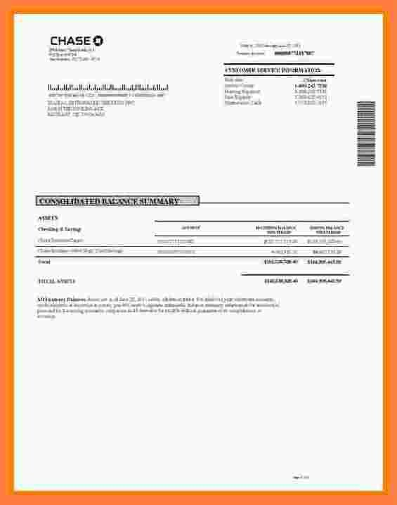 Fake Chase Bank Statement Template 8 Chase Bank Statement Template