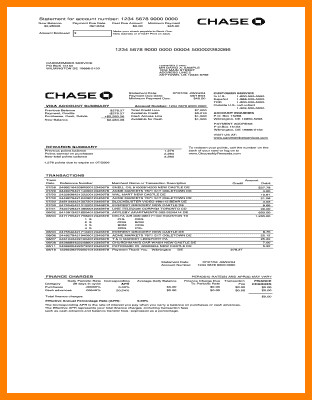 Fake Chase Bank Statement Template 9 Fake Bank Statement
