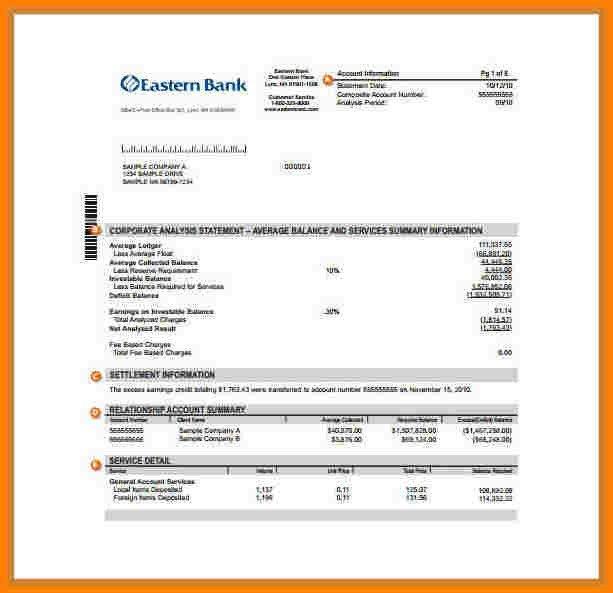 Fake Chase Bank Statement Template 9 Fake Chase Bank Statement