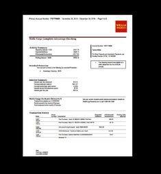 Fake Chase Bank Statement Template Create Fake Bank Statement Template Pinster