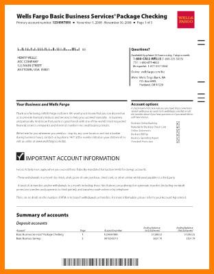 Fake Chase Bank Statement Template Fake Bank Statement Template