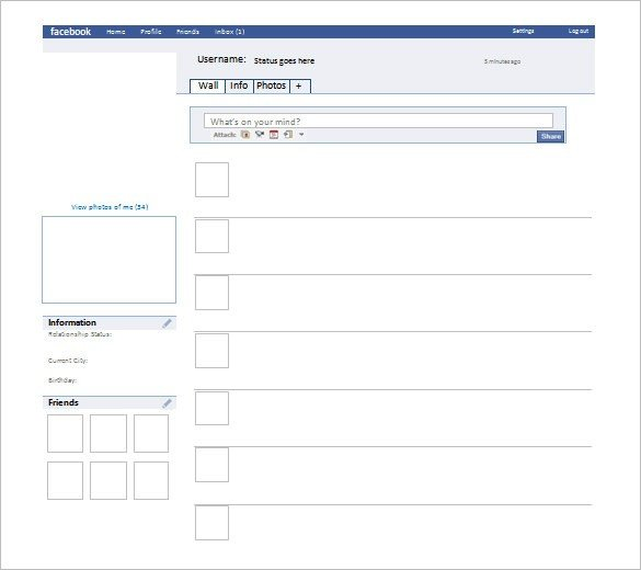 Fake Facebook Page Template Fake Template