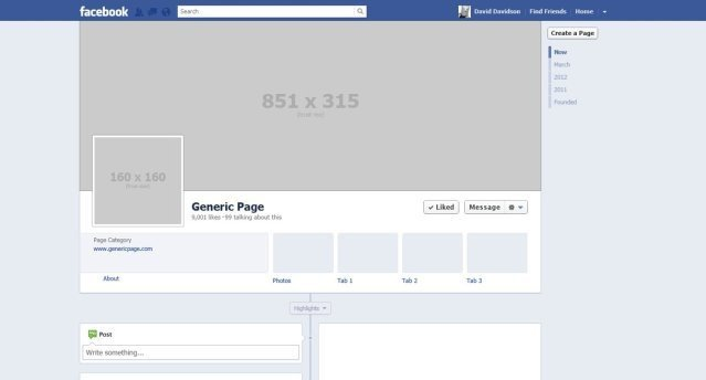 Fake Facebook Page Template Page Template