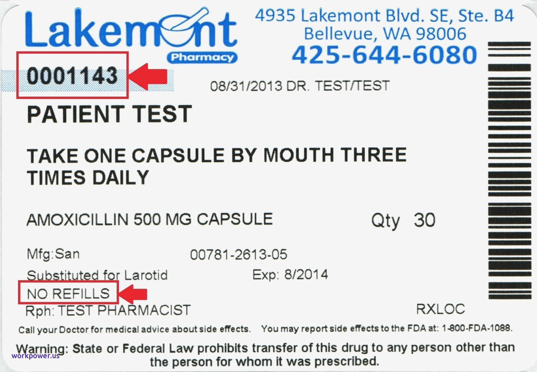 Fake Prescription Label Template 15 Things to Know About Fake