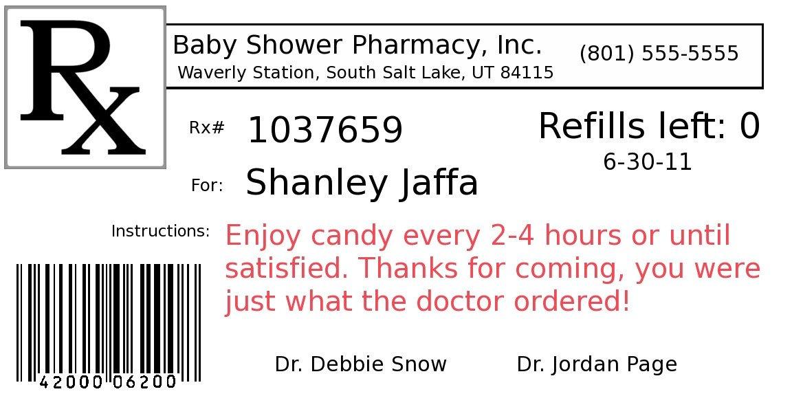 Fake Prescription Label Template Diy Project Pill Bottle Party Favors Fun Cheap or Free