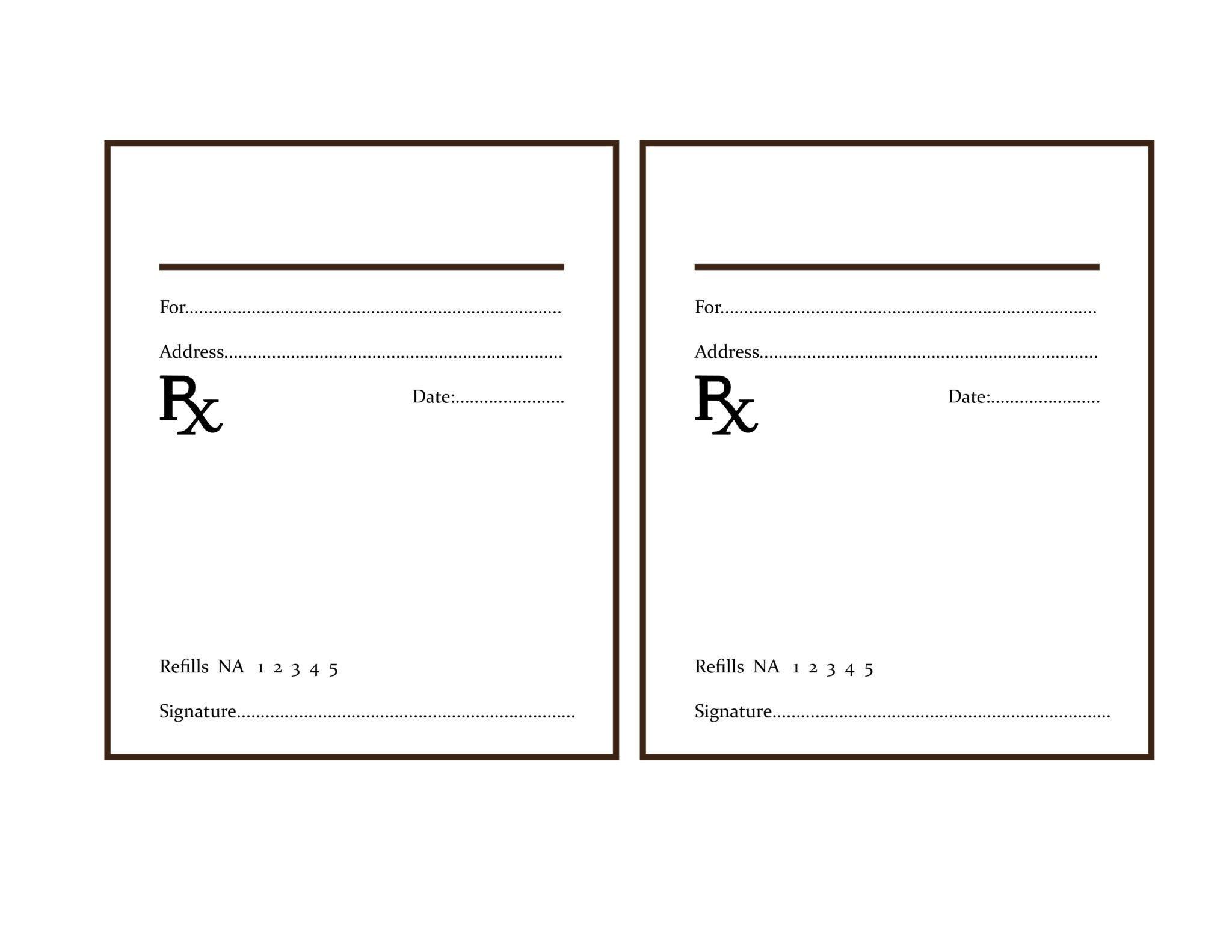 Fake Prescription Label Template the Delight Of Paper