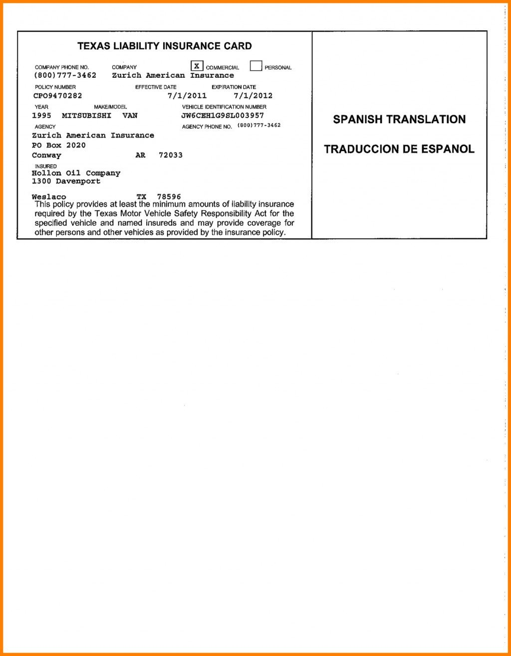 Fake Proof Of Insurance Templates Blank Insurance Card Template Ten Secrets You Will Not