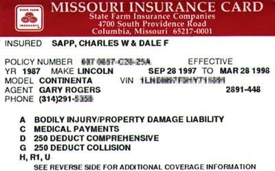 Fake Proof Of Insurance Templates Fake Car Insurance Card Template A Minimal Needs Of