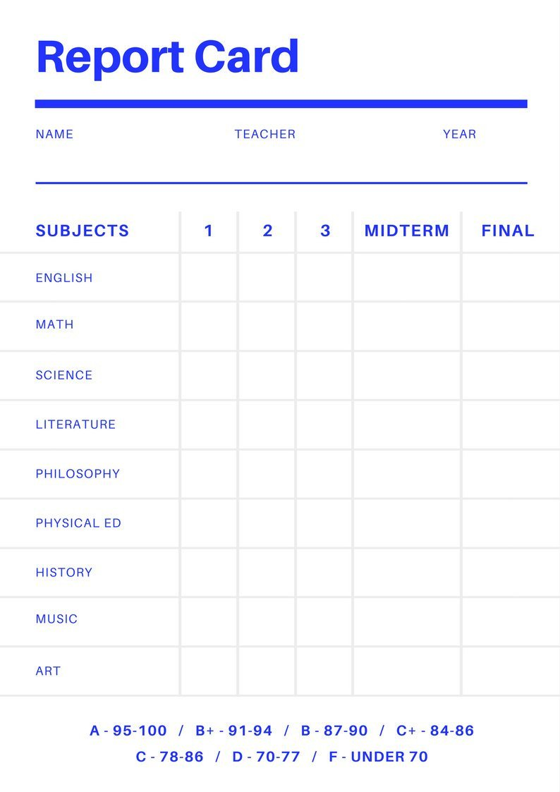 Fake Report Card Template Free Line Report Card Maker Design A Custom Report Card