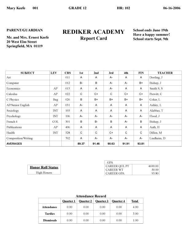 Fake Report Card Template Report Card Fakereportcards