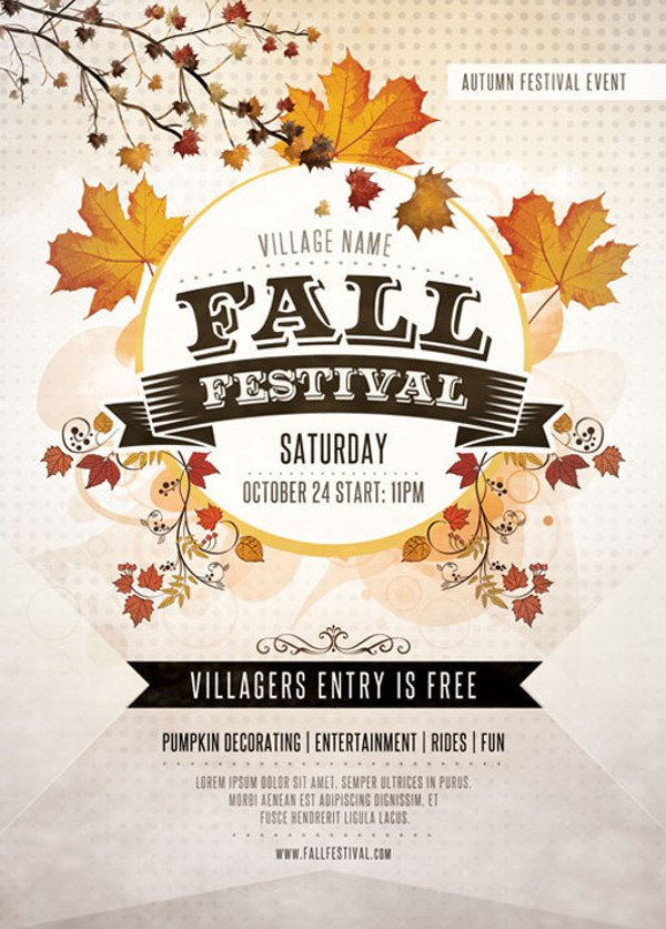 Fall Festival Flyer Template 36 Elegant Festival Flyer Design Templates Ai Word