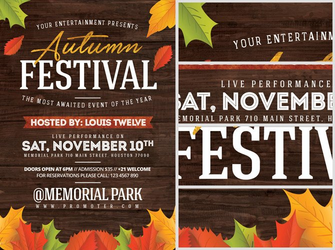 Fall Festival Flyer Template Autumn Festival Flyer Template Flyerheroes
