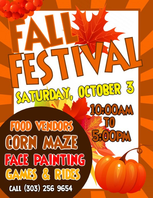 Fall Festival Flyer Template Copy Of Fall Festival Flyer