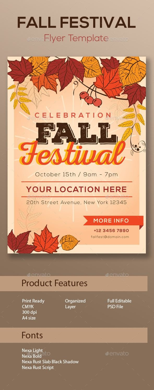 Fall Festival Flyer Template Fall Festival Flyer Template