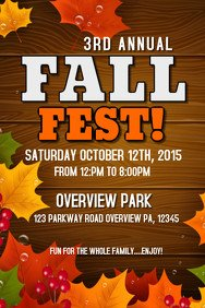 Fall Festival Flyer Templates 110 Customizable Design Templates for Harvest Festival