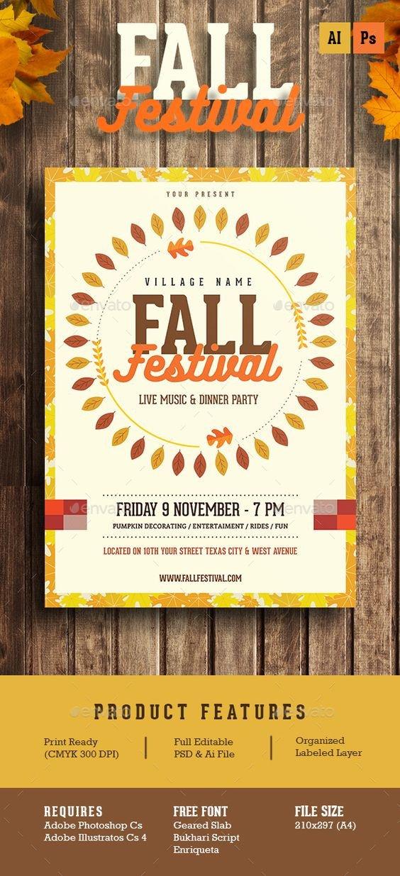 Fall Festival Flyer Templates Fall Festival Flyer