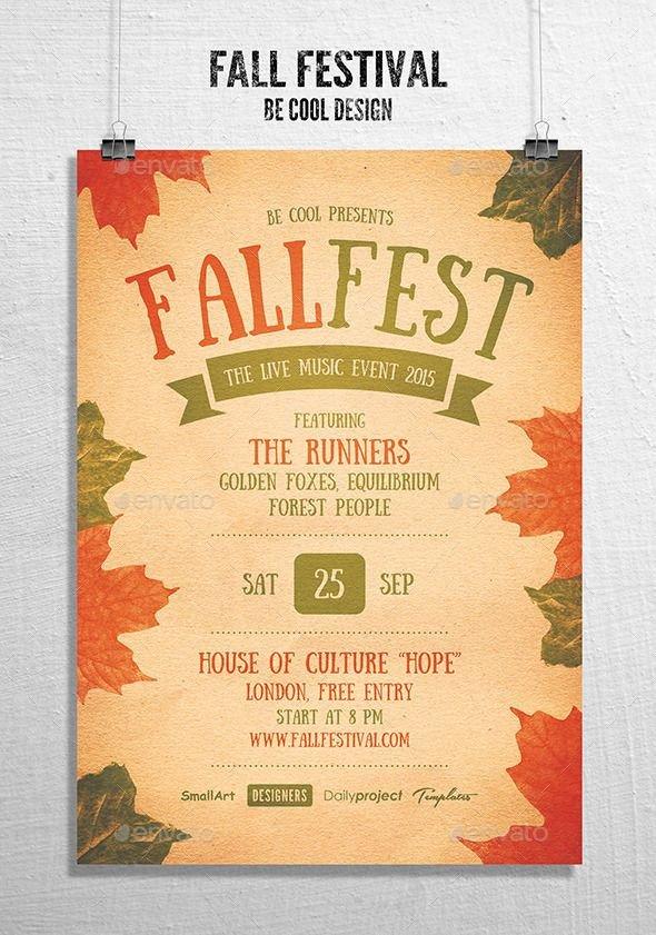 Fall Festival Flyer Templates Fall Festival Flyer Poster