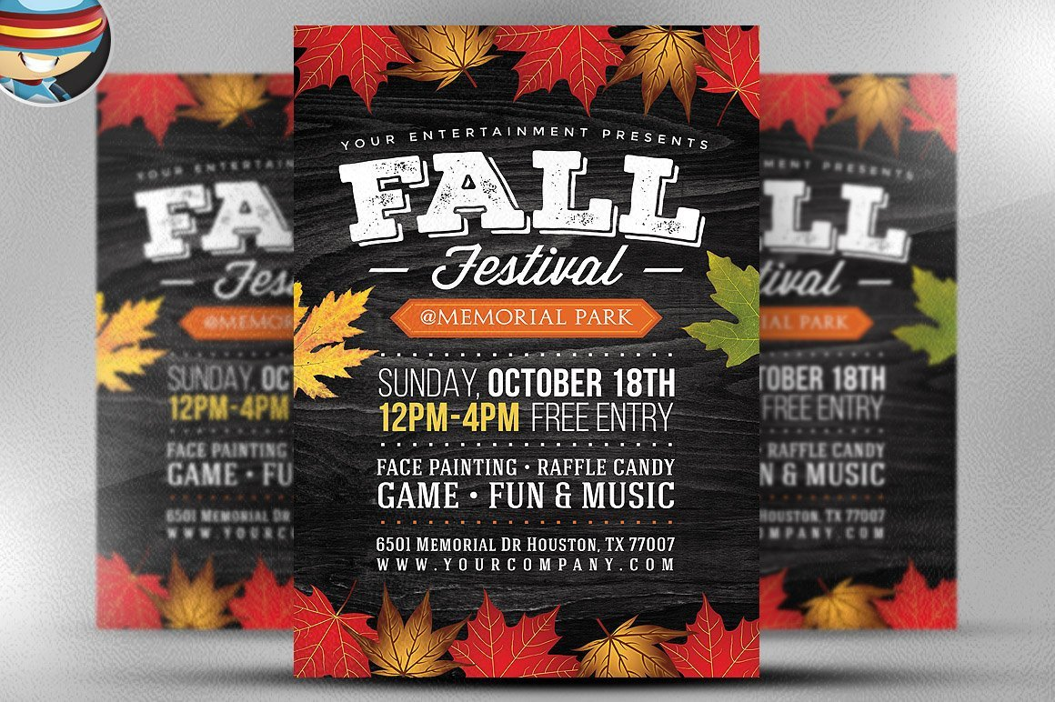 Fall Festival Flyer Templates Fall Festival Flyer Template 2 Flyer Templates