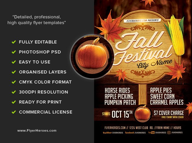 Fall Festival Flyer Templates Fall Festival Flyer Template 3 Flyerheroes