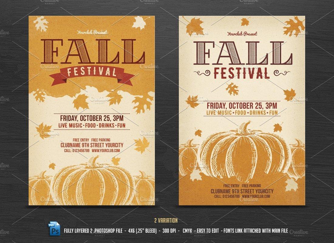 Fall Festival Flyer Templates Fall Festival Flyer Template Flyer Templates Creative