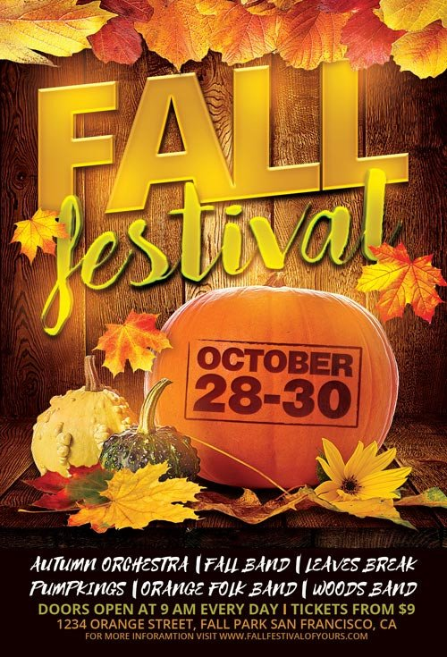 Fall Festival Flyer Templates Fall Festival Flyer Template for Shop