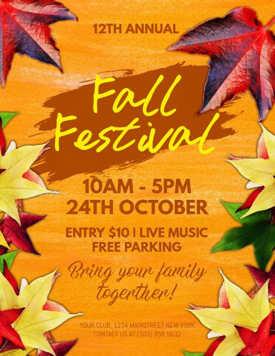 Fall Festival Flyer Templates Fall Festival Flyer Template