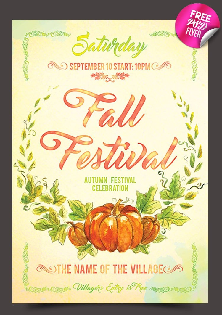 Fall Festival Flyer Templates Free Flyer Templates Psd From 2016 Css Author