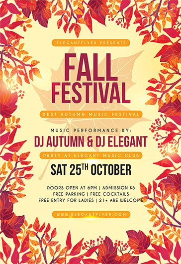 Fall Festival Flyer Templates Free Psd Flyer Templates for Shop by Elegantflyer