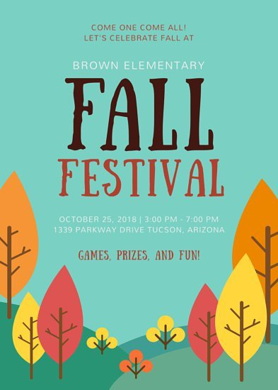Fall Festival Flyer Templates School Fall Festival Flyer Templates by Canva