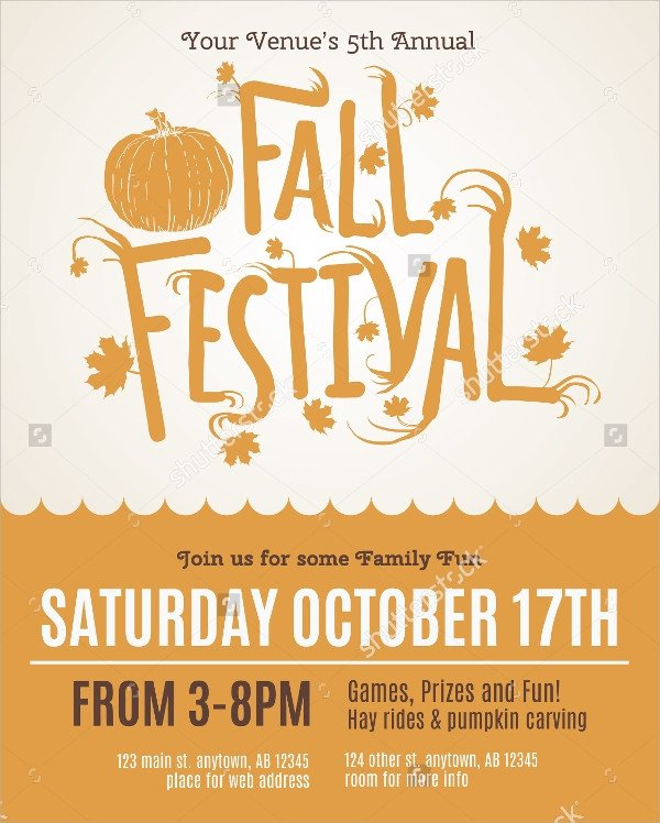 Fall Festival Flyers Template 25 Fall Flyer Templates Word Ai Psd Eps Vector